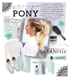 """""""summer pony"""" by wegenweil on Polyvore featuring Oris, Elizabeth and James, WearAll, Converse, Ted Baker, Bumble and bumble, Sachajuan, Drybar, Aveda and Alterna"""