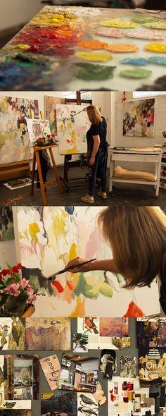 In the studio with Cape Town based artist Helen van Stolk.