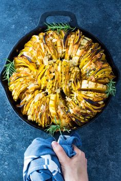 Roasted Delicata Squash Rings tossed with butter (or ghee/coconut oil for dairy free) and savory herbs, roasted to perfection and topped with parmesan cheese! Vegetable Recipes, Vegetarian Recipes, Healthy Recipes, Vegetarian Dinners, Veggie Dishes, Healthy Eats, Keto Recipes, Delicata Squash Roasted, Recipes