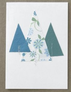 Simple Christmas Tree Card   AllPeopleQuilt.com