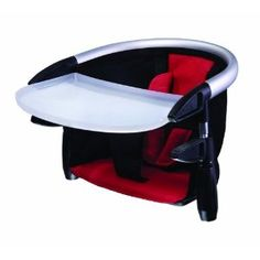 Lobster Highchair by Phil & Ted's: Lightweight, folds flat and clips to virtually any table. Made of washable fabric with a dishwasher safe food tray. Makes travelling much more pleasant for everyone. #Babies #Travel #Highchair #Phil_&_Teds