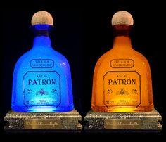 Patron Tequila Bottle Lamp Bottle Light by DiamondLiquorLights