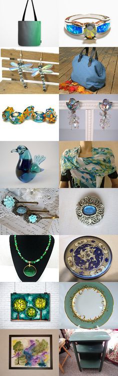 The Colors of Summer by Julie Duvall on Etsy--Pinned with TreasuryPin.com