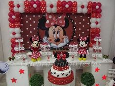 Minnie Mouse Birthday Theme, Red Minnie Mouse, Minnie Mouse Baby Shower, Girl 2nd Birthday, Mickey Party, Christmas Baby Shower, Minnie Mouse Cake, Smartphone, 1