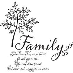 Brewster Home Fashions Family Tree Wall Quote Family Tree Quotes, Family Tree Art, Strong Family Quotes, Diy Family Tree Project, Love Wall, New Wall, Removable Wall Decals, Geometric Wall, Wall Stickers