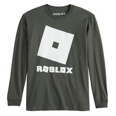 Boys 8-20 Roblox Logo Tee, Boy's, Size: Medium, Grey