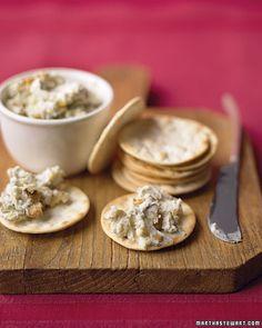 blue cheese and walnut spread. martha stewart