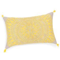 funda de cojín de algodón amarillo/gris 40 × 40 cm silves ... - Chaise Tulipe Maison Du Monde 2