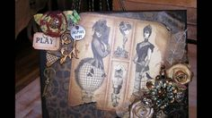 Steampunk Altered Canvas, via YouTube.