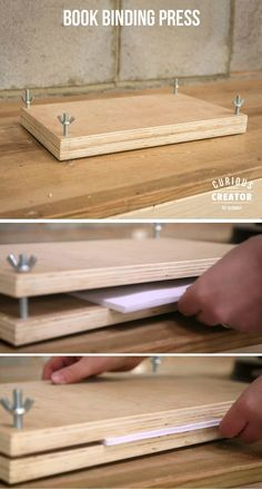 Booking Binding Press #woodworking #workshop