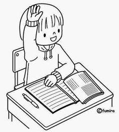 Maestra de Infantil: El colegio. Dibujos para colorear. Escenas escolares. Coloring Pictures For Kids, Free Kids Coloring Pages, Colouring Pages, Coloring For Kids, Coloring Sheets, Coloring Books, Preschool Colors, Preschool Crafts, Morning Meeting Kindergarten