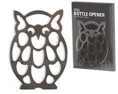 OWL OPEN YOUR BOTTLES  The most stylish bottle opener just flew in! Our unassuming Owl Open Your Bottles Bottle Opener is the perfect accessory for your bar. Your guests may not even recognize that this smart fellow can open bottles!