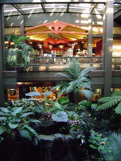 lobby in the Polynesian Resort