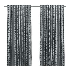 IKEA GUNNI Block-out curtains, 1 pair Grey cm The curtains prevent most light from entering and provide privacy by blocking the view into the.