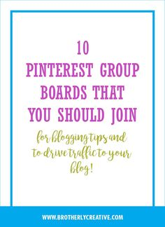 Read this post and know the Pinterest Group Boards that you should definitely join to grow your blog and drive traffic in it big time.