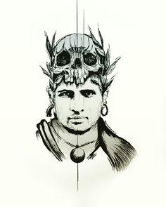 Tattoo art skull