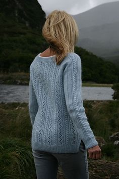 6753218ff6be6 Aedin pattern by Paulina Popiolek Hand Knitted Sweaters