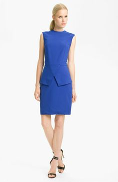 I want a top or dress with a peplum. I tried on a top a lunch today (did not buy it), but look at this cute dress!  Tibi Peplum Ponte Dress available at #Nordstrom