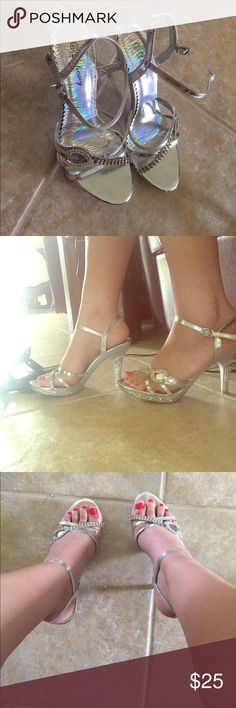 Prom Shoes size 8.5✨ Rhinestone Heels size 8.5; worn once to my junior prom. delicacy Shoes Heels