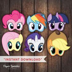 Mi poco pony máscaras mi pequeña fiesta de por PaperSparkleDesigns