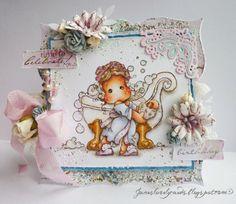 Tilda Rose Scent & Bath Tub / Jane's Lovely Cards
