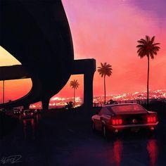 Chromatic Horizon – Les illustrations sombres et futuristes de Tony Skeor | Ufunk.net