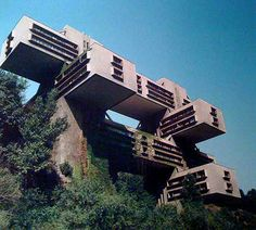 Imagine what the neighbors see... Soviet futurist architecture (photo credit: Frederic Chaubin)