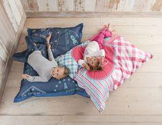 Stoere loungekussens van lief! lifestyle. Zowel voor jongens als voor meisjes verkrijgbaar!