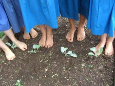 barefoot in the garden! as soon as the weather turns nice the shoes come off...