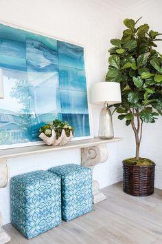 turquoise beach house scheme | Aqua Blue Coastal decor ideas