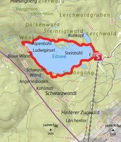 Karte / Rund um den Eibsee