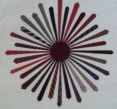 """""""Tie Burst"""" quilt from QuiltingBoard.com"""