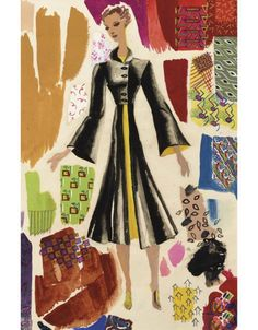 Ray Eames, fashion design in the early 1930s.© Courtesy Eames Office LLC