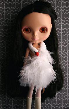 Blythe in a Bjork Swan Dress