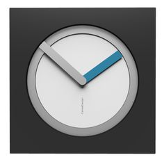 10-022-Q01C02B04O74M02 Wall clock KAM  - Do you like this color scheme? White, aluminium, anthracite and light blue. Have fun creating your own #wallclock