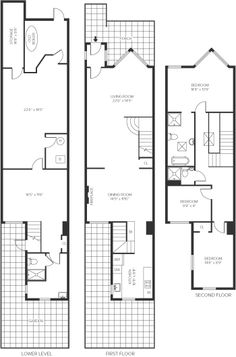 Office furniture floor plan for a small office for Contemporary townhouse plans