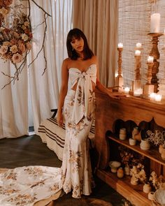 Bohemian Wedding Dresses (@daughtersofsimone) • Instagram photos and videos Bohemian Wedding Dresses, Bridal Portraits, Summer Looks, Bell Sleeves, Backless, Elegant, Sewing, Videos, Lace