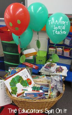 "Do you have a ""very special teacher"" that you want to celebrate?  Here's a fun way to engage your child and their classmates into celebrating their teacher for Teacher Appreciation Week or an End of the Year Celebration.  All the caterpillar themed projects can be created in stations in less than an hour.  Encourage the teacher to sit back …"