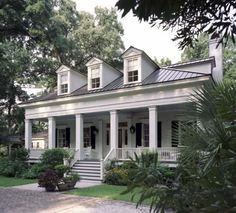 I like this Southern style home. Especially the big porch! Must find new siding choices though