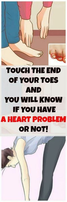 TOUCH THE END OF YOUR TOES AND YOU WILL KNOW IF YOU HAVE A HEART PROBLEM OR NOT! #health #fitness