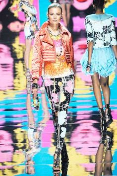 Pop Art Fall Fashion - Blumarine Warhol-Inspired Pastel Brights (GALLERY)-Tuba TANIK