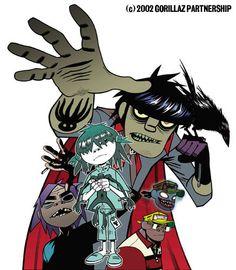 Fan Art of Comic for fans of Gorillaz 18879338 Murdoc Gorillaz, Gorillaz Fan Art, Gorillaz Noodle, Damon Albarn, Tank Girl, Blur, Jamie Hewlett Art, Russel Hobbs, Monkeys Band