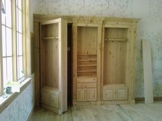 hidden saferoom and fully functional pool cue and acc cabinet approx 8' long by 8' tall