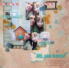 Materials from Emmo's Spring kit. By Elina Stromberg #scrapbooking