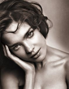 ♀ Black and white woman portrait face