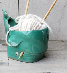 Yarn bowl ceramic whale yarn bowlKnitting bowl by claylicious