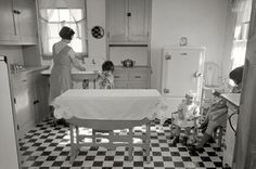 """February 1936. """"Kitchen in Westmoreland Homesteads. Mount Pleasant, Pennsylvania."""" Westmoreland Homesteads, built by the federal government as part of the National Industrial Recovery Act during the Great Depression, was a model community that housed the families of laid-off coal miners."""