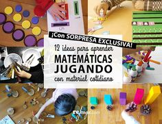 12 ideas de juego de matemáticas manipulativas para infantil con material cotidiano Indoor Games For Kids, Kids Outdoor Play, Outdoor Learning, Preschool Projects, Social Emotional Learning, Short Film, Kids And Parenting, Homeschool, Activities