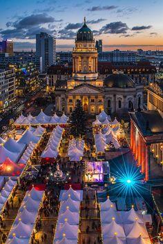 Coming Soon! The Gendarmenmarkt Berlin, Germany. Winter markets -