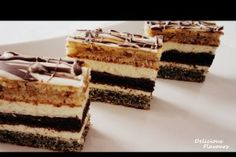 Delicious Flavours: Prajitura in dungi No Cook Desserts, Sweets Recipes, Cake Recipes, Romanian Desserts, Romanian Food, Peach Yogurt Cake, Homemade Sweets, Croatian Recipes, French Pastries